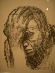Woman Contemplating by Kathe Kollwitz