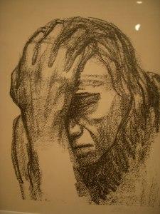 Woman Contemplating by Kathe Kollwitz