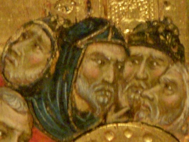 "Detail from ""Crucifixion"" (1310) The Master of Monte Cassino Cincinnati Art Museum Photo by Russell Smith"