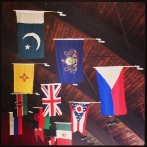 International Flags at New Wilmington Mission Conference