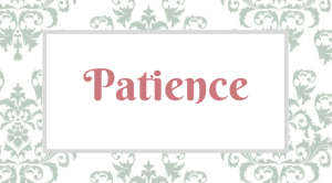 Fruitful Disciplines_ Patience