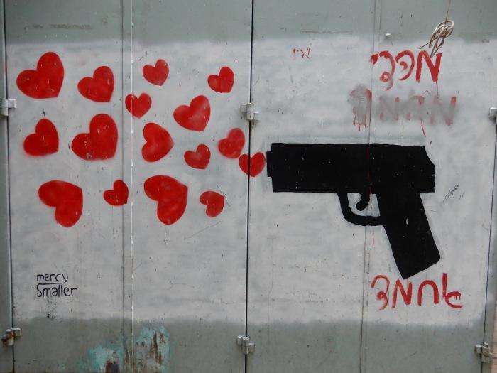 Gun with hearts